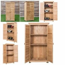 Garden Outdoor Storage Shed Wooden Shutter Design Fir Wood & Lockers Xmas Gift