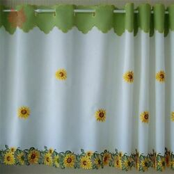 New Design Floral Embroidery Polyester Material Curtain For Home Decor N121