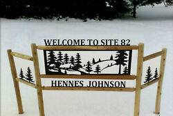 PERSONALIZED CABIN SIGN  -RUSTIC LOG DECOR - COMMERCIAL SIGNS - CLINGERMANS