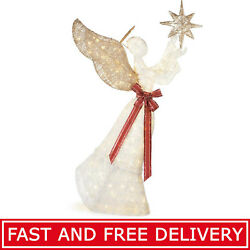 Christmas Decoration LED PVC Angel and Star 210-Light 70-Inch Outdoor Yard Decor