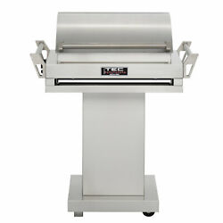 TEC G-Sport FR Natural Gas Grill On Stainless Steel Pedestal with Right Side She