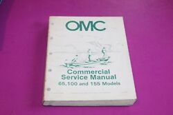 OMC Commercial Service Manual for 65 100 amp; 155 Models. Part 507450 D.