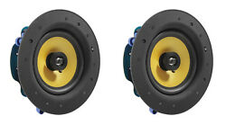 2 Pack TDX 6.5quot; 2 Way Ceiling Wall Home Theater Speaker Flush Mount White Pair $59.95