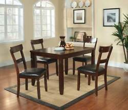 Contemporary Style 5pc Espresso Upholster Dining Set Dining Home Decor Furniture