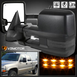 1999-2002 Silverado Sierra Facelift POWER+HEATED Tow Mirrors wSmoke LED Signal