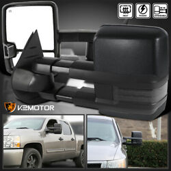 2007-2013 Silverado Sierra Facelift Smoke LED Signal POWER+HEATED Towing Mirrors