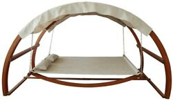 Patio Swing Bed Pool Side Furniture Covered Hammock Relaxation Comfort Canopy