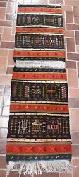 Wool Tribal Weaving Carpet from Ghardaia M'zab Valley Algeria (App 66