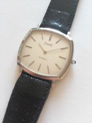 PIAGET Automatic Ultra flat massive white Gold 18kt vintage and rare watch  💥