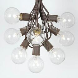 6 Strings of 100 Ft Globe Patio Outdoor Christmas String Lights G40 Clear Bulbs