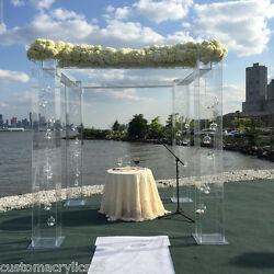 Acrylic Wedding Structure - 8ft tall x 8ft square custom sizing available