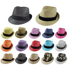 Gelante Unisex Summer Fedora Panama Straw Hats with Band (Ship in a BOX) $9.95