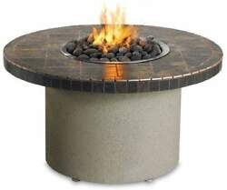 Sedona By Lynx Falcon Gray Circular Gas Fire Pit Table Natural Gas