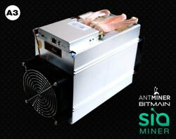In HAND antmain Antminer A3 Blake2b 815GHs Miner ASIC Siacoin - Mines $400day!