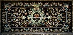 Collectible Marble Top Restaurant Table Marquetry Inlay Design Patio Decor H5313
