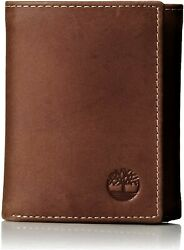Timberland Men#x27;s Hunter Trifold Leather Wallet $19.99