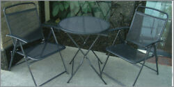 Bistro Set Patio 3 Pcs Table Chairs Outdoor Furniture Iron Cafe Garden Outdoor