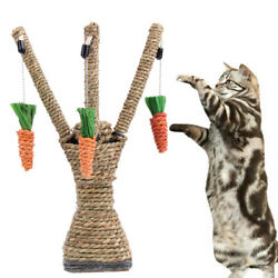 Cat Post Pet Tree Sisal House Scratching Tower Play Kitty Scratch New Furniture $29.99
