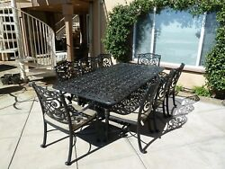 Outdoor Dining Set Patio Garden Home Kitchen Furniture Table and Chairs 7 Pieces
