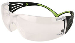 3M SecureFit Bifocal Safety Glasses with BlackLime Temples Clear Anti-Fog Lens $11.59