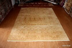 FINE QUALITY 8' X 10' HANDMADE RUG Soft beige color Persian Oriental Rug