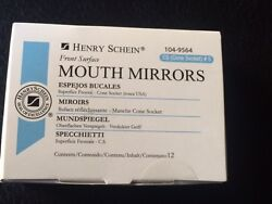 Dental Henry Schein Mouth Mirror front surface Cone Socket #5 12 Box Miltex $13.99