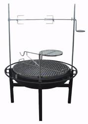 RIVERGRILLE GR1038-014612 Rancher Fire Pit Charcoal Grill w Rotisserie 31