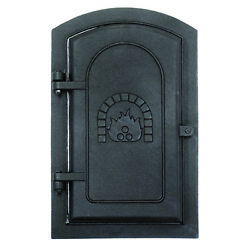 Minuteman 3577943 Clean-Out Door Black Cast-Iron with Fireplace Image - 8x12