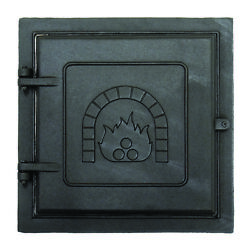 Minuteman 3577944 Clean-Out Door Black Cast-Iron with Fireplace Image - 12x12