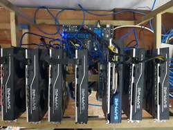 Fully Loaded 7 Card RX480RX 580 Mining Rig for Crypto Coins
