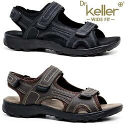 New Mens Leather Summer Sandals Walking Hiking Trekking Trail Sandals Shoes Size GBP 14.95