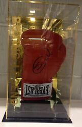 Scott Cardle hand signed boxing glove in a display case RARE COA