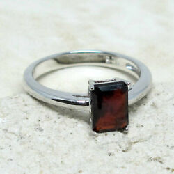 AWESOME 1 CT GENUINE AFRICAN GARNET 925 STERLING SILVER RING SIZE 5 10 $19.99