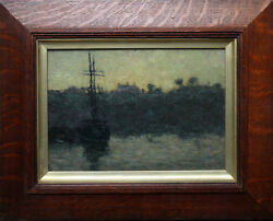 JAMES BOLIVAR MANSON BRITISH CAMPDEN TOWN OIL PAINTING FRENCH MARINE 1879-1945