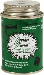Leather Luster Black Military Polish High Gloss 4 oz for Boots Shoes Belts More $12.77