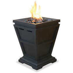 Fire Pit LP Gas Tabletop Column Outdoor Camping Propane Burner Patio Fireplace