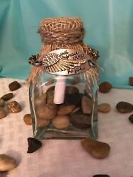 With Brave Wings She Flies...Bracelet And A Message In A Bottle Gift Set!