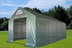 Green Garden House Walk In Greenhouse 20'x10' Triangle Top + Mesh Cover