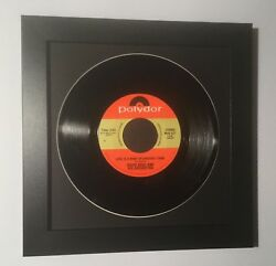 45 rpm vinyl record display picture frame black 7 inch disk