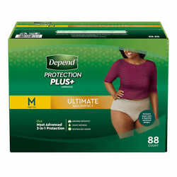 Depend FIT-FLEX Underwear for Women Size: Medium - 88Ct - Free Shipping! $49.88