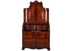 Antique Biedermeier Burl Wood Secretary Desk Cabinet 69980 $2200.00