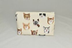 Exotic CAT Travel Bag PET Lover Gift for Makeup Toiletries Storage Purse POUCH