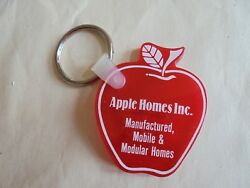 Cool Vintage Apple Homes Inc Manufactured Mobile Modular Advertising Keychain