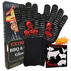 Fireplace & BBQ Grilling Gloves by Grill Chill - 932°F Extreme Heat...