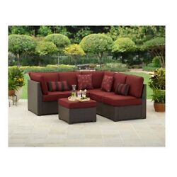 Sectional Sofa Set Outdoor Patio All-Weather Wicker Furniture Couch Loveseat 3pc
