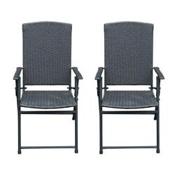 SunLife Folding Rattan Chairs Outdoor Indoor Foldable Camping Garden...