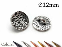 6pcs Decorative Pewter Button Round with back loop size 12mm $9.18