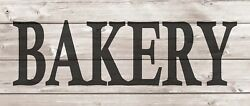 Bakery Metal Sign Wood Look Rustic Wall Decor Retro Man cave 5x12 SS45 $19.95