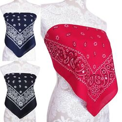 Bandana Crop Top Shirt Womens Clothing Red Blue Black White One Size New $19.99