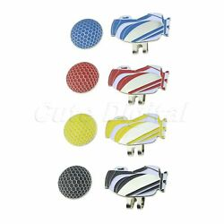 1X Golf Bag Alloy Magnetic Hat Clip Removable Golf Ball Marker Decor Outdoor Set